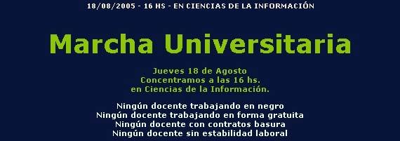 Marcha Universitaria : 18 de agosto
