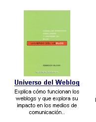 """""""Universo del Weblog"""", by Rebecca Blood."""