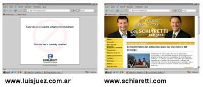 La Web de los candidatos, en el día final..