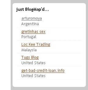 Tu blog en el mapa...