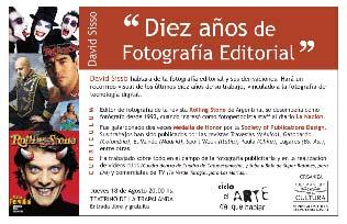 """Río Cuarto: David Sisso y sus """"Diez años de Fotografía Editorial"""""""